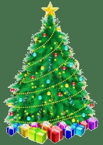 Kerstboom met kerst bowlen bij bowlingcentrum Drachten